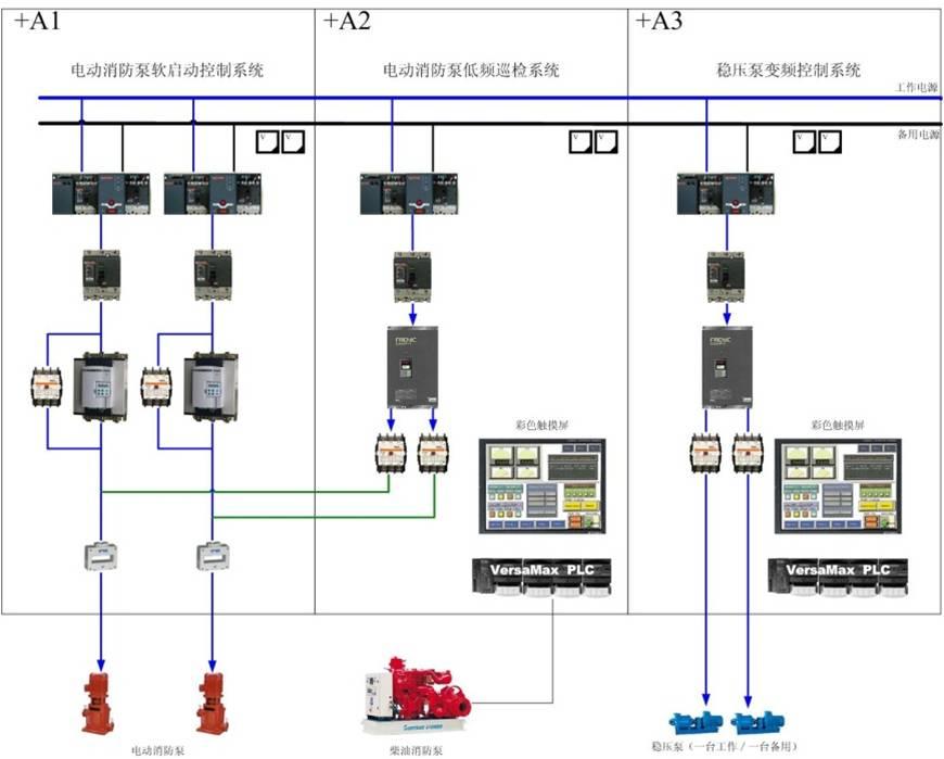 智能消防巡检设备电路图
